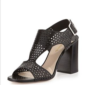 💜Prada perforated T-strap sandals